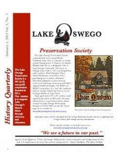 Lake Oswego News Vol 3, No. 1