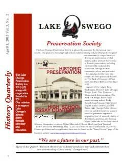 Lake Oswego Newws Vol 3, No.2