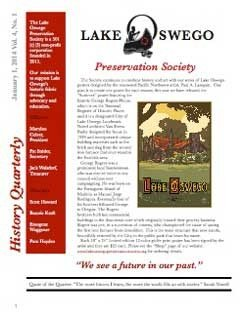 Lake Oswego News Vol 4, No.1