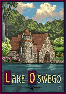 Lake Oswego Preservation Society's Spring Poster by Paul A. Lanquist