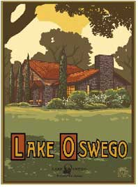 Lake Oswego Summer Poster