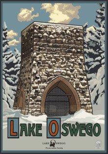 Lake Oswego Winter Poster