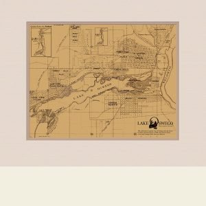 Ladd Estate Company Map Canvas Reproduction