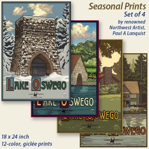 Seasonal Giclée Prints, Set of 4