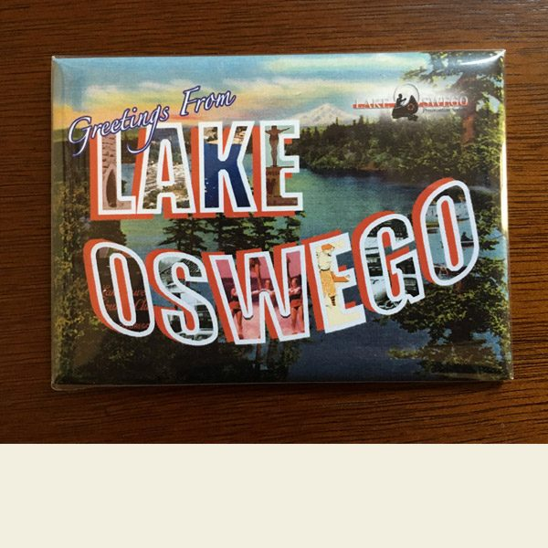 "Lake Oswego ""Vintage"" Greetings Magnet"