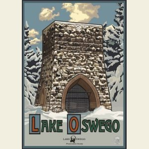 Paul A. Lanquist - Lake Oswego Winter Print