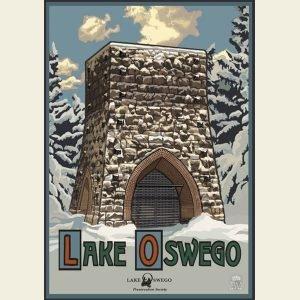 Paul A. Lanquist - Lake Oswego Winter Print